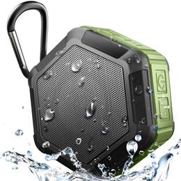 Iphone Stereo Player Australia - IP67 Waterproof Speaker Outdoor Sport Portable Wireless Bluetooth Speakers for Iphone Samsung iPad Mobile Phone Stereo Loud speakers