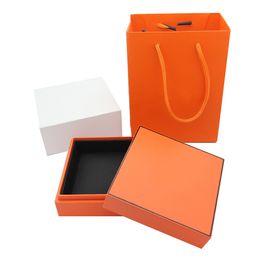 Bracelet Famous Brands NZ - New Fashion High-end gift box Branded famous brand H bracelet neckalce ring box package set original handbag jewelry gift box