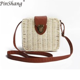 $enCountryForm.capitalKeyWord Canada - wholesale Handbag Women Bags Girl Grass Hand Woven Single-shoulder Bag Fashion Boxes Women Bags Designer Bags for Women 2018 ZK30