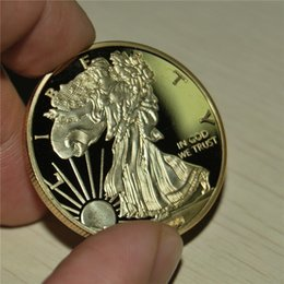 $enCountryForm.capitalKeyWord NZ - Free shipping 10pcs lot,American Eagle Gold Clad Coin,2000 liberty American eagle 20 Dollars gold metal coin,Mirror Effect,