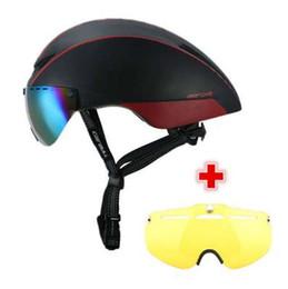 $enCountryForm.capitalKeyWord UK - CAIRBULL 2 Lens AERO-R1 Cycling Helmet Racing Bike Safety Helmet With Magnetic Goggles Mountain Road Pneumatic TT Bicycle Helmet