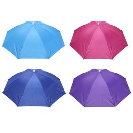 Sunny Hats UK - Hot Sale Folding Umbrella Hat Sun Umbrella Sun Shade Camping Fishing Hiking Festivals Outdoor Brolly New