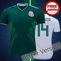 Top Thai Quality Mexico 2018 2019 Player Vesion Tight Home Away Soccer  Jerseys World Cup CHICHARITO M.LAYON SANTOS Camisa de Football Shirts 939f025f9