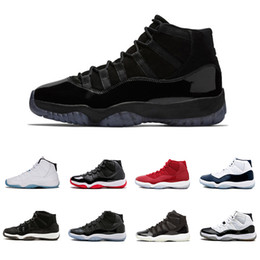 Cap and Gown 11 XI 11s PRM Heiress Black Stingray Gym Red Chicago Midnight  Navy Space Jams Basketball Shoes sports Sneaker 8732bac17