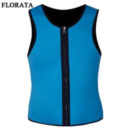$enCountryForm.capitalKeyWord NZ - FLORATA New Slimming Male Vest Neoprene Body Shaper Sweat Suits T Shirt Slim Corsets Shapers Plus Size Zipper