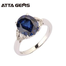 Opal Sapphire Ring NZ - Blue Sapphire Sterling Silver Ring For Women Party And Wedding 5 Carats Sapphire Fashion Design Top Quality Sapphire Ring Y1892606