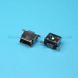 Discount mini usb female socket - 50pcs Copper Vertical SMT mini USB female socket MINI-USB JACK