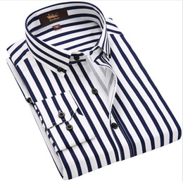 dd9366fa5f9 Wide striped shirt online shopping - Man Long Sleeved Wide Striped Shirt  Stretch Business Casual Shirt