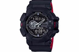 China 2018 New Hot Sale Sports Wristwatch Clock Hours kol saati Analog Led Dual Display Watches For Men Black Gold Outdoor Clock Timepieces cheap round clock men suppliers