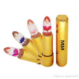 $enCountryForm.capitalKeyWord Australia - Hot Milemei 4Colors Lipstick Magic Color Temperature Change 100% Original Beautiful Jelly Flower Lipstick Matte batom Hot Sale