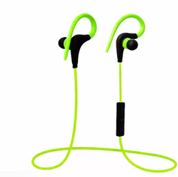 Iphone Stereo Player Australia - 2018 Bluetooth Headphones Sport Wireless Hook Stereo Music Player Neckband Earphones Jogging Headphones For Iphone 7 With Retail Box