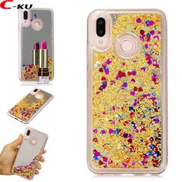 Shiny cell phone caSeS online shopping - Mirror Liquid Bling Gitter TPU Soft Case For Huawei P20 Lite P20 Pro Enjoy S P Smart Quicksand Shiny Love Heart Cell Phone Skin Cover