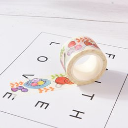 Discount school scrapbook stickers - DIY Washi Tape Masking Tape Scrapbook Decorative Paper Adhesive Sticker Cute Decorative Adhesive Office School Supplies