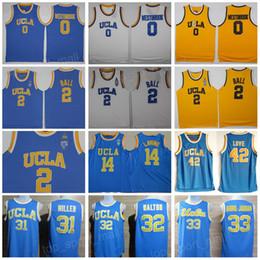 f5b36d465409 UCLA Bruins Jersey College Basketball Russell Westbrook Lonzo Ball Zach  LaVine Kareem Abdul Jabbar Reggie Miller Bill Walton Kevin Love Blue