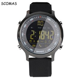 Discount french for clock - SCOMAS Waterproof Smart Watches Pedometer Activity Sports Watch for Men SMS CALL Reminder Alarm Clock Smartwatch for Cel