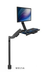 Wholesale W815A Gas Spring Arm Full Motion Customized Keyboard Monitor Holder Floor Stand Wall Side Mount Stand Working Monitor Mount Arm