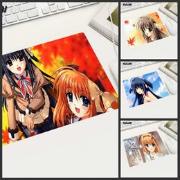 Rubber Player NZ - KULIA Featured Pure Anime Girl Mouse Pad Rubber Soft Non-slip Cleanable Suitable for Home Office Computer Desk Pc Players Laptop