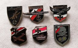 EmpirE pin online shopping - Lof of ww2 wwii German Tank PzKpfw VI Tiger Empire Eagle Emblem luftwaffe air force stuka junkers ju pin badge U Boat