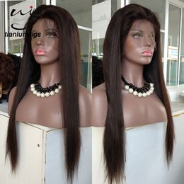 Hair Wigs Australia - silk straight #2 color full lace wig human virgin hair wonderful quality indian women hair lace front wig for black women 22 inch
