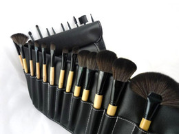$enCountryForm.capitalKeyWord UK - 24 Pcs Makeup Brushes Set Professional BB Brand Wood Color Make Up Brush Kits Cosmetics Tools with Roll Up Case