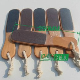 double sided foot file wholesale Canada - Good quality! Eco-Friendly Material! Wholesale & Retail Wooden Double Side Foot Rasp File Callus Remover Pedicure Tool 4pcs lot