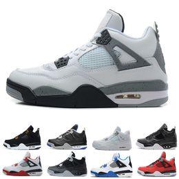 Discount men basketball shoes toro red - 4s basketball shoes hight quality man basketball shoes color Military Blue Toro Bravo Green Glow size us 7-13