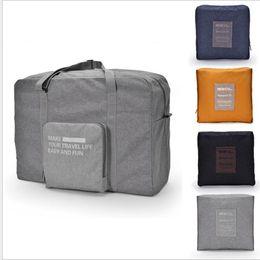 Travel Luggage Bag Fashion Women Folding Carry-on Duffle Bag Foldable  Portable Bag Zipper Bags 4 color LJJK959 37d5967625773