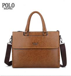 polo bags NZ - SULPPAI POLO bags for men2018 Famous brand new fashionable leisure business men bag single shoulder briefcase bag high quality