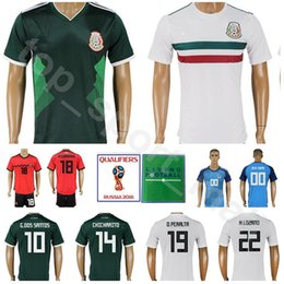 Men Mexico Jersey 2018 World Cup Soccer 22 LOZANO 10 SANTOS 14 CHICHARITO Football  Shirt Kits 19 PERALTA 18 GUARDADO Custom Name Number d92a9228d