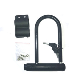 Chinese  Anti Theft Bicycle Lock Mountain Bike Road Cycling Black Security Creative U Shaped Locks With Bracket Keys 7 5kq jj manufacturers