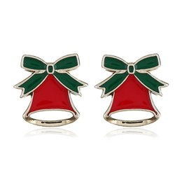 Aggressive Multicolor New Crystal Double Bells Fashion Christmas Bows Sleigh Bells Brooches Christmas Gifts Christmas Brooches For Women Fashion Jewelry
