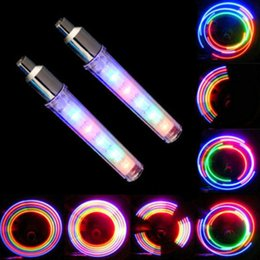lights for motorcycles wheels 2019 - Colorful LED Flash Light Lamp For Bicycle Car 5 LED 8 Flashing Bike Lights Wheel Valve For Motorcycle Wheels Firefly Air