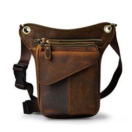 Quality Leather Men Design Casual Messenger Shoulder Sling Bag Fashion Multifunction Waist Belt Pack Drop Leg Bag Pouch 3110b Sale Price Fine Jewelry