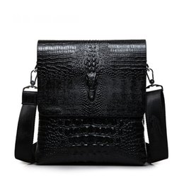 0222a17cc67a New men s crocodile pattern shoulder diagonal business bag fashion Europe  and the United States handbags high-grade briefcase
