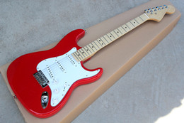 Discount guitar red pickguard - Special Price Red Electric Guitar with White Pickguard,SSS Pickups,Maple Fretboard,Chrome Hardwares,offering customized