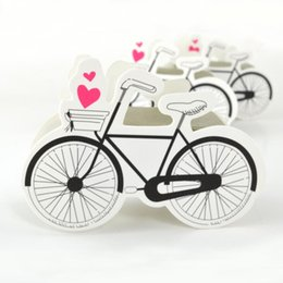 $enCountryForm.capitalKeyWord Canada - Event Party Gift Boxes Bags 50pcs Bicycle Shape Paper Box Cartoon Bike Wedding Birthday Favor Paper Candy Boxes Celebration Party Gift Box