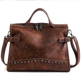 $enCountryForm.capitalKeyWord Australia - Fashion bag Joker carrying hand-held vintage rivet shoulder bag