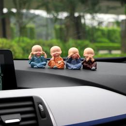 Kung fu doll online shopping - Car Ornaments Set Don t Resin Monks Maitreya Buddha Kung Fu Figure Doll Gift Auto Dashboard Decoration Pendants Charms