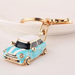 MINI Beetle Car Key Chains Ring Cute Car Shape Keychain Keyring Crystal  Lovely Fashion Jewelry Women s Bag Pendant 13e35f70c3