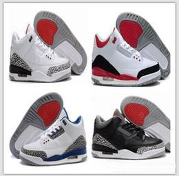 pretty nice 44150 bf3f0 blanco negro de cemento infrarrojo 23 lobo gris zapatillas de baloncesto  zapatillas de deporte para hombres 3 3s buena calidad versión tamaño EE.  UU. 8-13 ...