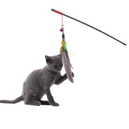 $enCountryForm.capitalKeyWord Australia - High Quality Pet Cat Toy Newly Design Bird Feather Plush Plastic Toy for Cats Cat Catcher Teaser Toy Free Shipping