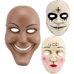 $enCountryForm.capitalKeyWord UK - High Quality Movie Themed The Purge Resin Mask Smile Face God Cross Halloween Cosplay Party Mask Collective