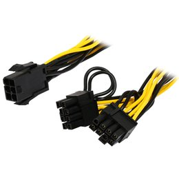 China 6 inch Molex 6-pin PCI Express to 2 x PCIe 8 (6+2) pin Motherboard Graphics Video Card PCI-e GPU VGA Splitter Hub Power Cable cheap x motherboard suppliers