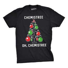 Science Chemistry NZ - Mens Chemistree Tshirt Funny Chemistry Science Christmas Tee For Guys