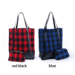 $enCountryForm.capitalKeyWord Canada - Christmas Buffalo Plaid Tote Wholesale Blanks Red Check Handbag Mummy Purse with a Shell Cosmetic Bag Free Shipping DOM106579