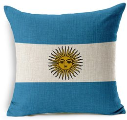 Discount body flags - Bandera De Argentina Argentinian Flag National Flags Emoji Pillow Massager Decorative Pillows Art Painting Home Decor Gi