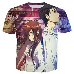 T-shirts New Fashion New Steins Gate El Psy Congroo Anime Logo Mens White T Shirt Size S To 3xlfunny Tee Shirts