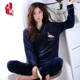 d429960833 Sleep Lounge Pyjamas Women Winter Autumn Women Pajamas Plus Size Flannel Pajamas  Female Winter Warm Cartoon Pajama Woman S-3XL