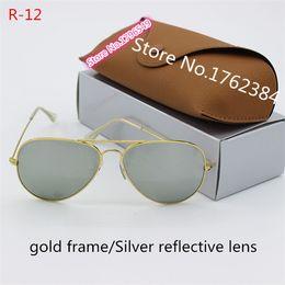 559211587b0e Fashion classic metal sunglasses high quality designer glasses glass lens  men and women general sunglasses anti-UV radiation glasses