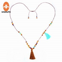 $enCountryForm.capitalKeyWord Canada - HAOHUPO Long Amber Necklace for Women Tassel Jewelry Bohemian Fashion Female Necklace Beach Jewelry with Natural Turquoise